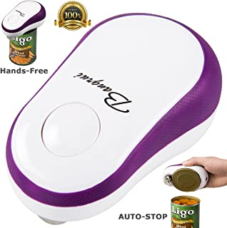 Home Kitchen Restaurant Mama Manual Automatic Safety Electric Can Opener:2019 Updated (Bangrui) Intellectual Electric Can Opener:Smooth Edge,Stop Automatically,a Good Helper in Cooking! (Purple)