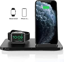 $28 » Seneo Dual 2 in 1 Wireless Charger [New Version], iWatch Charging Stand, Nightstand for Apple Watch Series 5/4/3/2, 7.5W Fast Charge for iPhone 11/Pro Max/XR/XS/X/8 (No iWatch Cable or Adapter)
