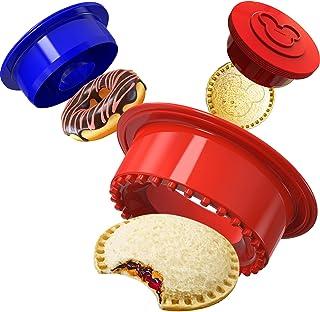 Baspoom Multipurpose Donut Cutter Doughnut Maker, 6 PCS Round Biscuit Cookie Cutters Set with Sandwich Sealer for Kids, Un...