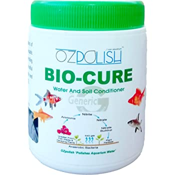 OZpolish Bio-Cure by Aquatic Habitat | Aquarium Probiotic and Beneficial Bacteria | Fish Tank Cleaner, Reduce Ammonia(Dry; 100 g)