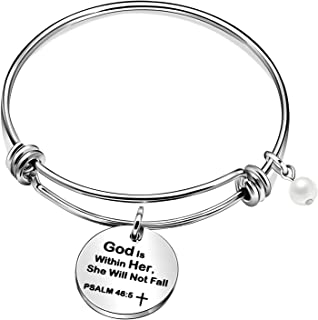 CAROMAY Teachers Day Bangle Men Women Expandable Bracelets Teacher Appreciation Missing Gifts for Birthday