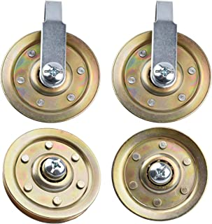 """Heavy Duty Garage Door 3"""" Pulley Kits, 3/8"""" bore 200LB Load Rating, Kits Including 2 Stationary Pulleys and 2 Rear Wheel P..."""