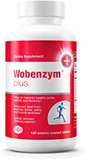 Wobenzym - Wobenzym Plus - Number One Joint Health Pill in Germany†*, Supports Joint Function, Muscles and Recovery After Exertion† - 120 Enteric-Coated Tablets