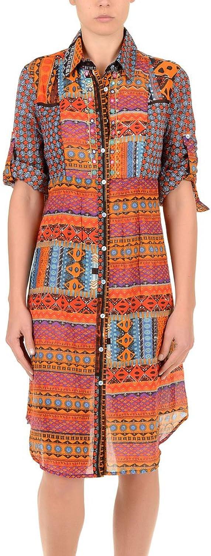 Iconique IC7027 Women's orange Aztec Camisole Beach Dress
