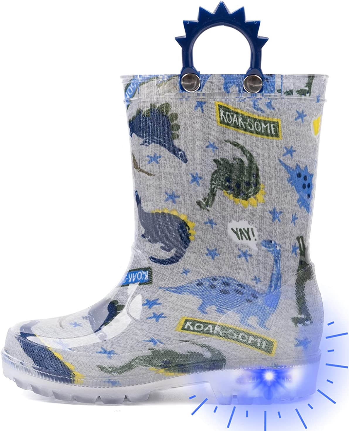Outee Toddler Kids Adorable Lightwight Philadelphia Mall Boots Lig Rain San Francisco Mall Waterproof