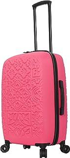 "Mia Toro Italy Modeled Art Mozaic Hard Side Spinner Luggage 24"", Magenta"