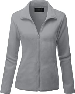 DOUBLJU Womens Full Zip Fleece Jacket with Pockets (Plus Size Available)