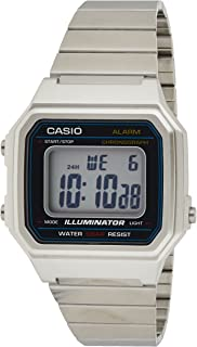Casio Watch for Unisex B650WD-1ADF Digital Stainless Steel Band Silver
