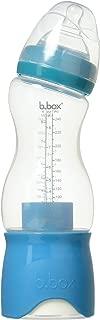 b.box Baby Bottle + Dry Formula Dispenser | Color: Aqua Groove | 8 oz. | BPA-Free| Phthalates & PVC Free | Dishwasher Safe