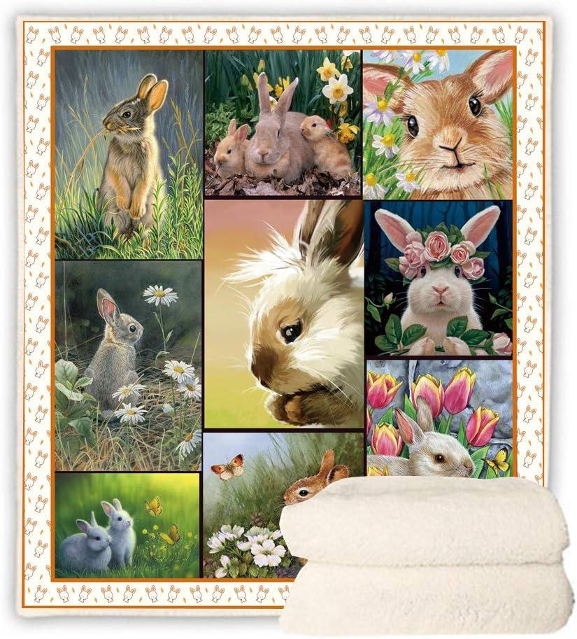 BEDBLK Cute Rabbit Throw Blanket Cozy 大幅値下げランキング Warm Plush アウトレット Gi Bunny Easter
