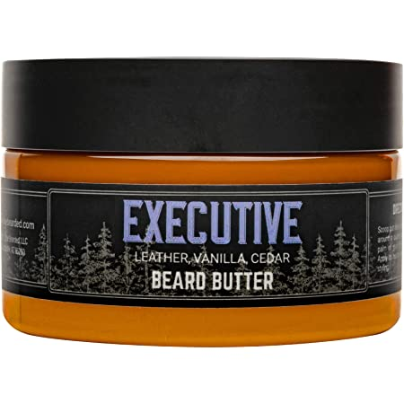 Live Bearded: Beard Butter - Executive - Leave in Conditioner for Beards - 3 oz. - Moisturize, Style, Condition - All-Natural Ingredients with Shea Butter - Light to Medium Hold - Made in the USA