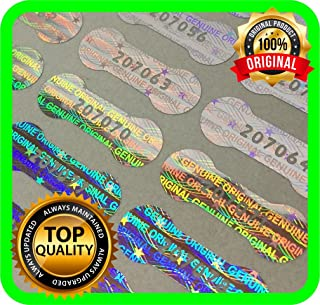 Holomarks 1150 pcs Security hologram labels, void warranty stickers tamper evident seals Dogbone with serial numbers .78 x .27 inches