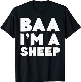 Baa I'm A Sheep T-Shirt Costume Gift Shirt T-Shirt