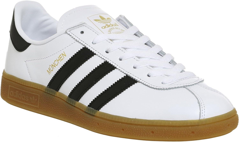 Adidas München Herren Turnschuhe, Weiß Schwarz Lassen Sie