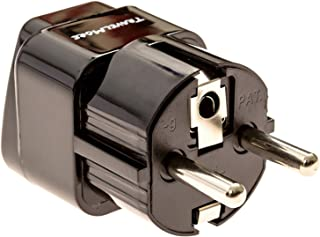 Europe Travel Adapter For European Outlets - Type C, Type E, Type F - Europe Plug Adapter Works In France, Spain, Germany,...