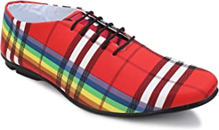 Crown Sapphire Checkered Shoes for Men