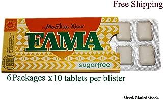 Greek Mastic Chewing Gum Elma Sugar Free (6pcs X 10 Tablets)