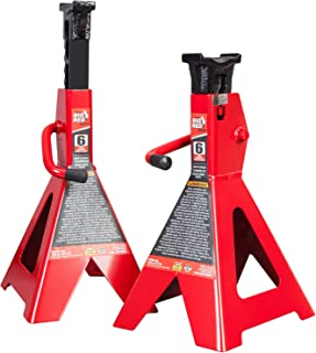 BIG RED T46002 Torin Steel Jack Stands: 6 Ton (12,000 lb) Capacity, 1 Pair