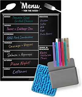 $22 » Jot & Mark Weekly Menu Planning Magnet Kit | Kitchen Meal Planner and Grocery List Notepad with 10 Bright Color Dry Erase ...