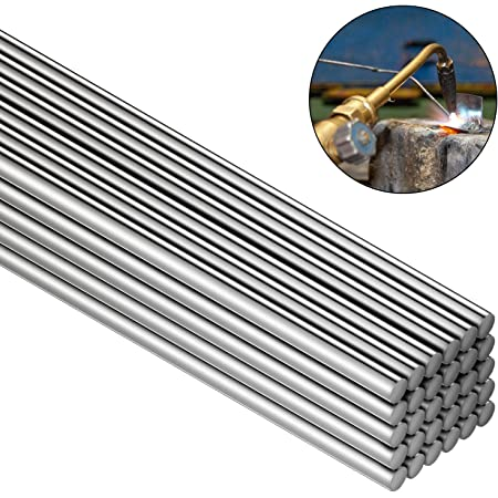 Chemistry KYMY Aluminum Welding Rods,30-Pack 10in 25cm Universal Low Temperature Copper Aluminum Welding Cored Wire for Electric Power