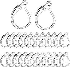 BoNaYuanDa 100PCS Silver Plated French Earring Hook Ear Wire Lever Back Open Loop DIY Jewelry Findings