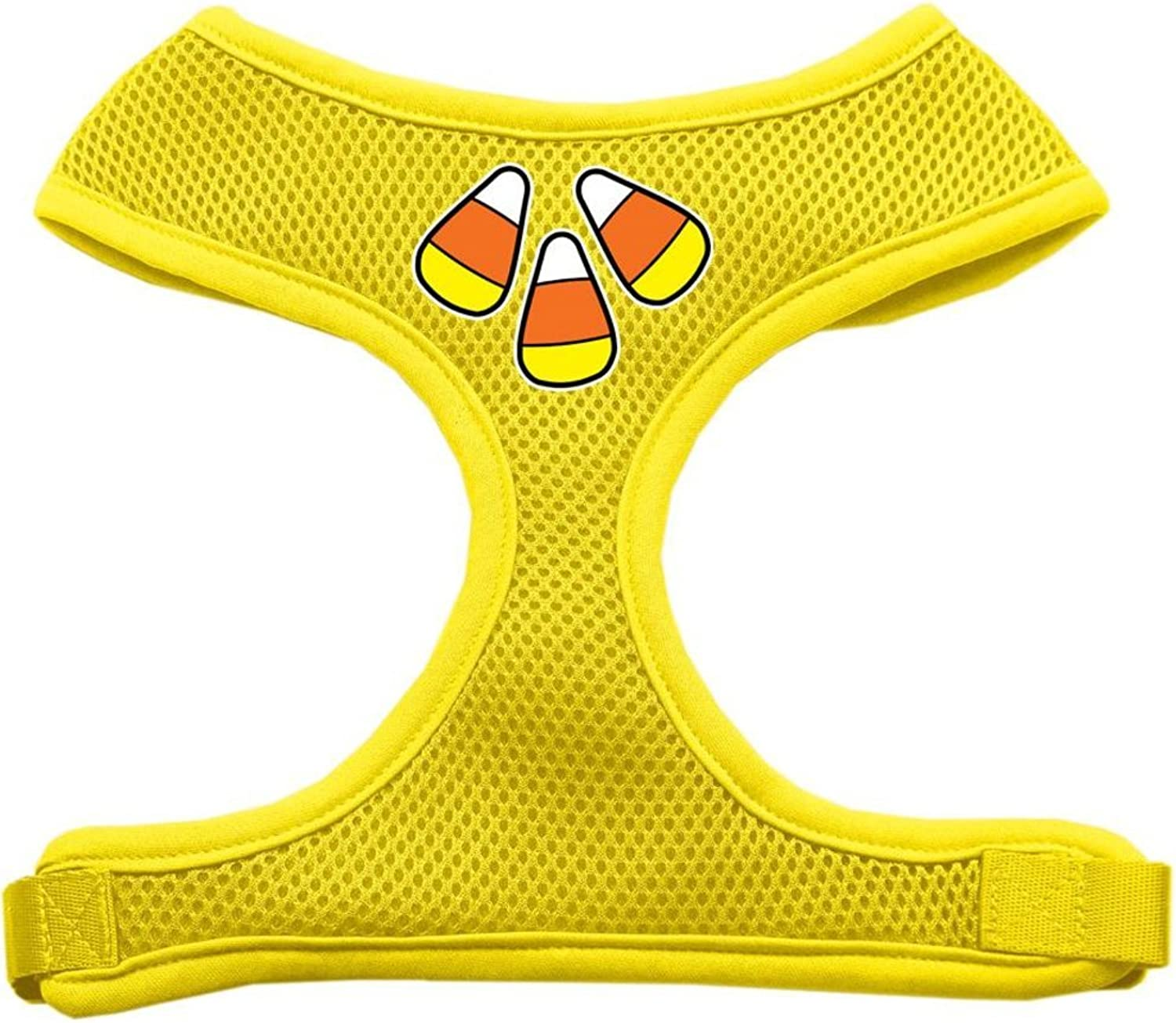 Mirage Pet Products Candy Corn Design Soft Mesh Dog Harnesses, XLarge, Yellow