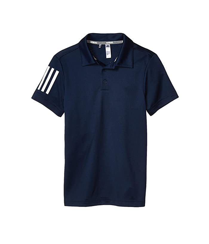 adidas Golf Kids  3-Stripes Polo Shirt (Little Kids/Big Kids) (Collegiate Navy) Boys Clothing