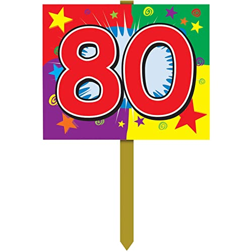 80 Birthday Yard Sign Party Accessory 1 Count