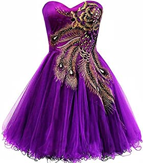 Best purple peacock prom dress Reviews