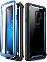 i-Blason Case for Galaxy S9+ Plus 2018 Release, [Ares] Full-body Rugged Clear Bumper Case with Built-in Screen Protector (Blue)