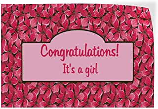 Decal Sticker Multiple Sizes Congratulations Its a Baby Girl White Lifestyle Congratulations Its a Girl Outdoor Store Sign Green 52inx34in,
