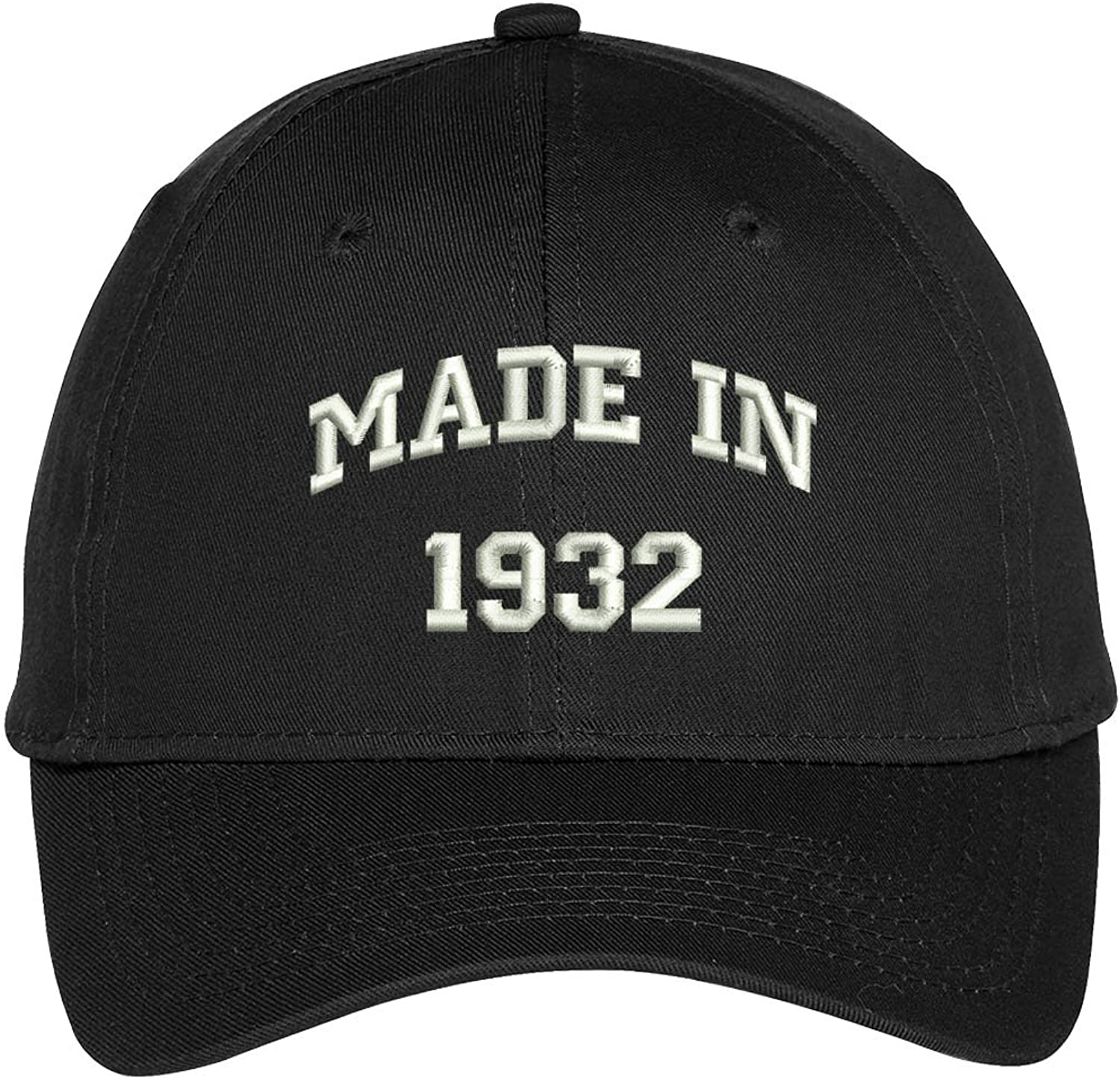 Trendy Apparel Shop Made in 193286th Birthday Embroidered High Profile Adjustable Baseball Cap