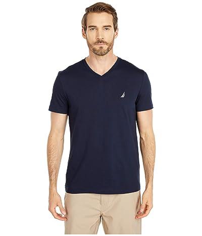 Nautica Short Sleeve V-Neck Tee (Blue 1) Men