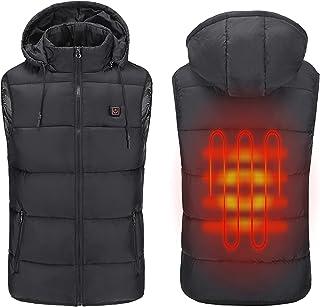 Womdee Gilet risCaldato Senza Batteria Inverno Ricarica Caldo Gilet Elettrico riscaldata Vest Lavabile Elettrico riscaldata Vestiti con Riscaldamento Film per Campeggio Esterno M