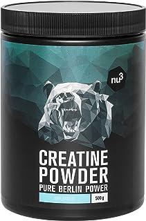 nu3 Creatina en polvo - 500g de creatina pura - 100% mono hidrato Creapure - Fuente segura de energía rápida - Uso especial para atletas - Ideal para mejorar el rendimiento durante el entrenamiento
