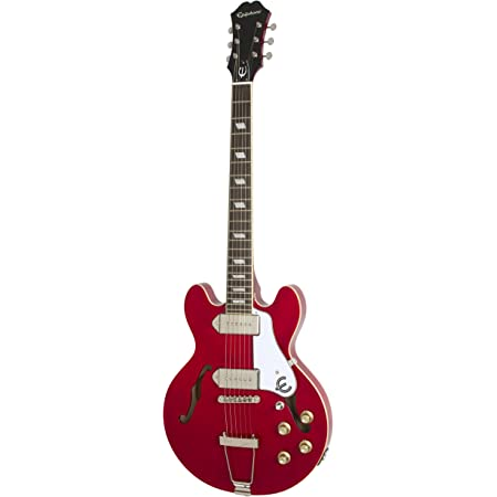 Amazon Com Epiphone Casino Coupe Thin Line Hollow Body Electric Guitar Cherry Red Musical Instruments
