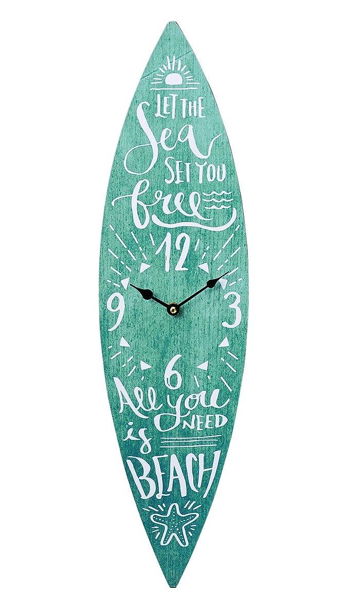 バブル旋律的たくさんキーストーン 置き時計?掛け時計 ライトブルー 高さ/約60cm, 幅/約17.3cm