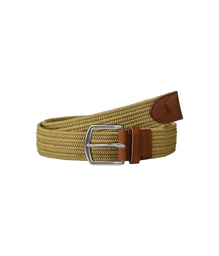 Polo Ralph Lauren 34mm Braided Fabric Stretch Belt (Timber Brown) Men