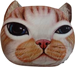 Tache Home Fashion CATPILLOW Tache Cute Orange Tabby Cat Microbead Realistic Throw Pillow, Brown