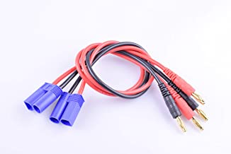 Hengfuntong-Elec 2PCS EC5 Connector Male to 4mm Banana Plug Charge Lead with 14awg 11.8