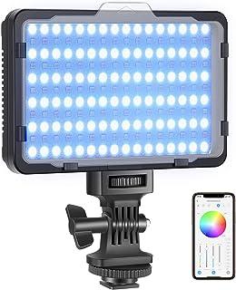 Neewer Oświetlenie RGB wideo z kontrolą aplikacji, 360° Full Color LED Camera Light CRI95+ możliwość ściemniania 3200 K-56...