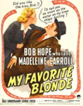 Posterazzi My Favorite Blonde from Left: Madeleine Carroll Bob Hope On Window Card 1942. Movie Masterprint Poster Print (24 x 36)