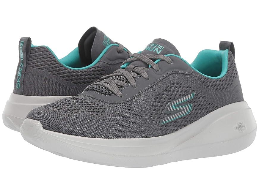 スーパー静脈グラフレディーススニーカー?ウォーキングシューズ?靴 Go Run Fast Charcoal/Turquoise 7.5 (24.5cm) B [並行輸入品]