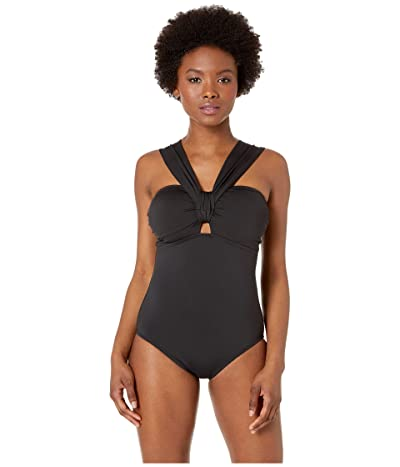 Tommy Bahama Pearl Shoulder Strap One-Piece (Black) Women