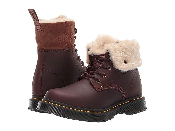Vintage Boots, Retro Boots Dr. Martens 1460 Kolbert Wintergrip Dark Brown Snowplow WaterproofMustang Waxy Suede Waterproof Womens Boots $159.95 AT vintagedancer.com