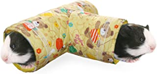 RYPET Small Animal Play Tunnel, Collapsible Pet Toy Tunnel for Hamster, Guinea Pig, Chinchillas, Mice, Rats