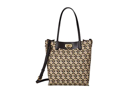 Salvatore Ferragamo Travel Shopper (Gancini Print) Handbags