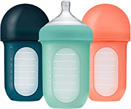 Boon NURSH Reusable Silicone Pouch Bottles, 8 Ounce (Pack of 3)
