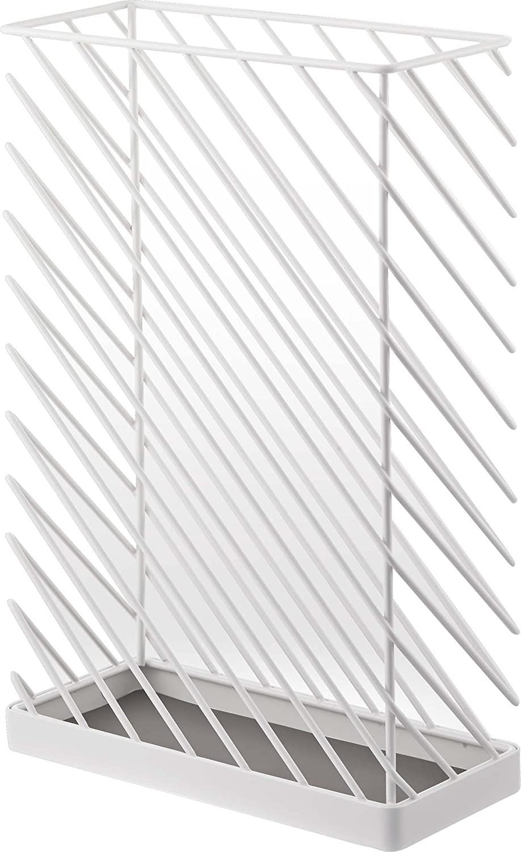 YAMAZAKI home Slash Umbrella Stand, Rectangular, White