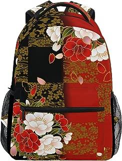 TropicalLife Japanese Flower Backpacks Bookbag Shoulder Backpack Hiking Travel Daypack Casual Bags
